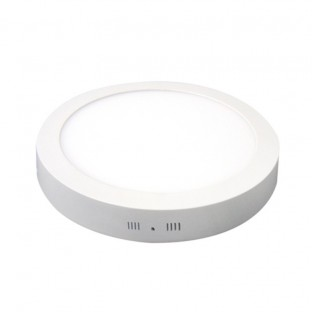 Plafón Led Downlight Surf 24W Plata