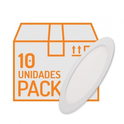 10 ud. en pack de Downlight LED Slim Redondo 18W