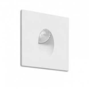 Downlight LED Empotrable Ligur Cuadrado 3W Blanco 68X68X85mm.