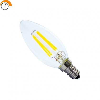 Bombilla led Filam Candle 4W E14 Regulable