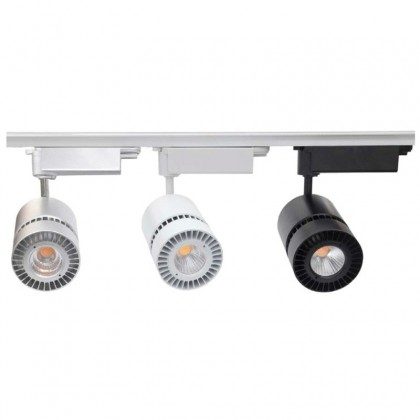 Proyector Carril Led Vento 30W Plata